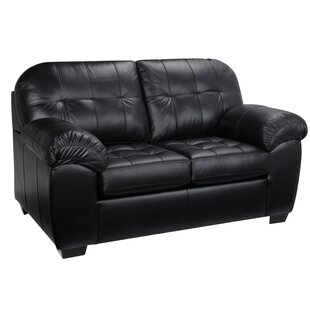 Bellamy Leather Loveseat by Red Barrel St..