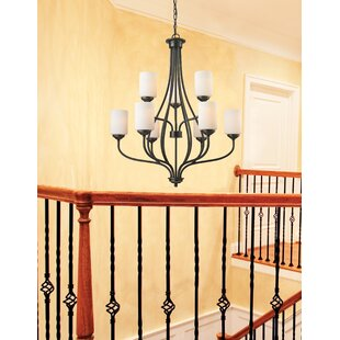 Charlton Home Weatherly 9-Light Shaded Chandelier