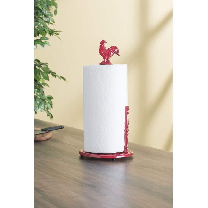 Rooster Free Standing Paper Towel Holder
