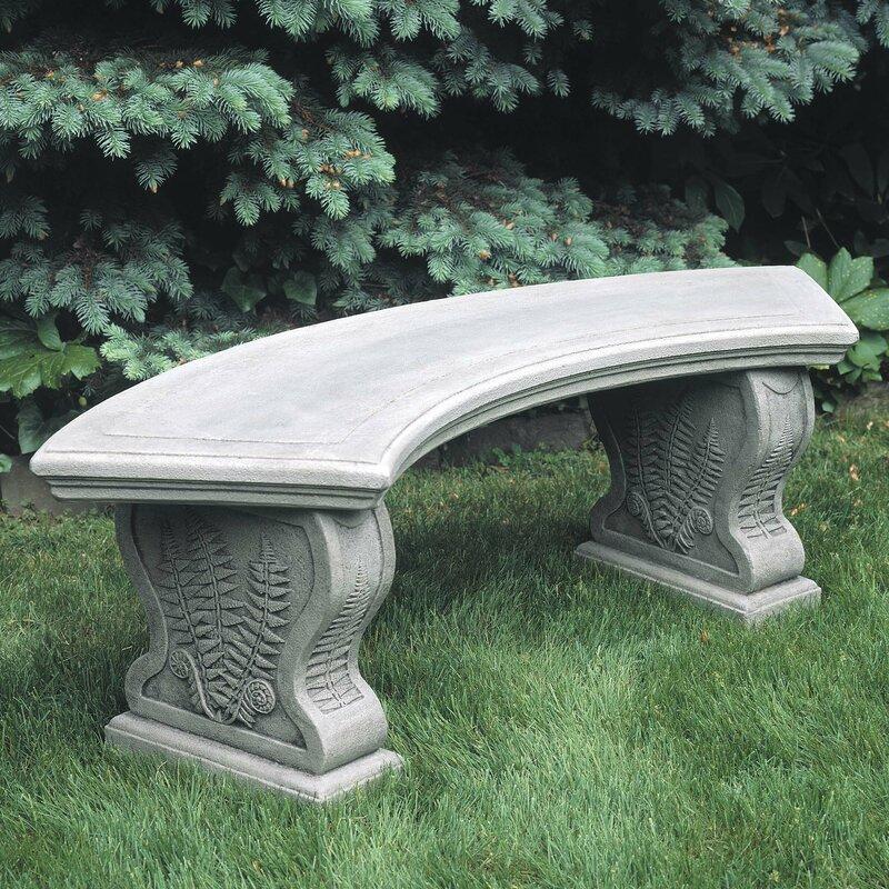 Astoria Grand Millar Curved Woodland Ferns Bench  Color: Greystone