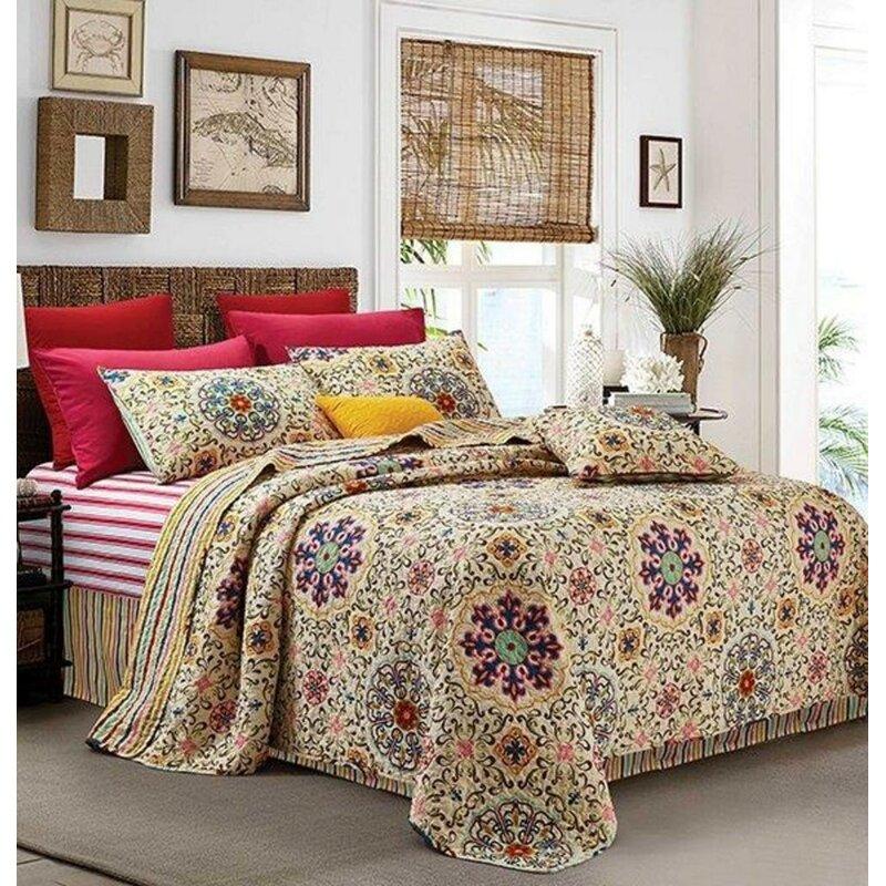 Bungalow Rose Zeledon Mudra Mandala Quilt Set Wayfair
