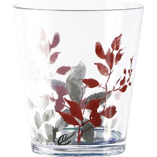 Kyoto Leaves 14 oz. Acrylic Drinking Glass (Set of 6)