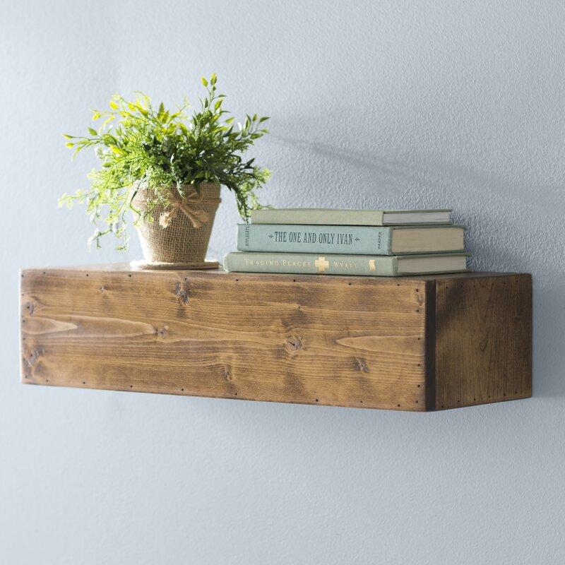 Laurel Foundry Modern Farmhouse Jensen Wood Floating Shelf Reviews Wayfair