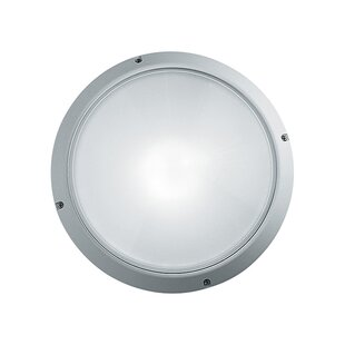 Breakwater Bay Gervais 1-Light Outdoor Flush Mount
