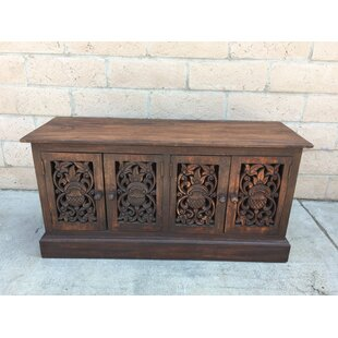 Ropesville Carved 4 Door Accent Cabinet by Bungalow Rose