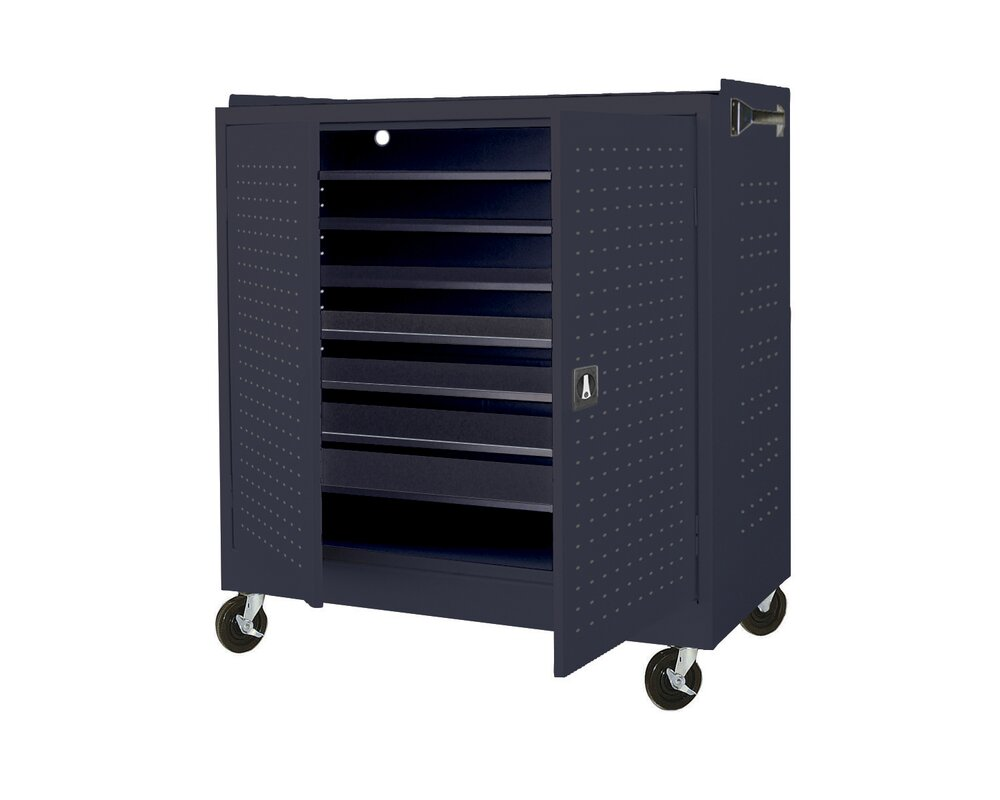 16 Compartment Laptop Storage Cart