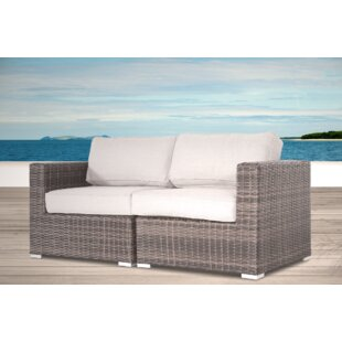 Rosecliff Heights Vardin Loveseat with Cu..