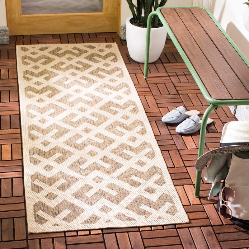 Wrought Studio Sherree Geometric Brown Tan Area Rug Reviews Wayfair