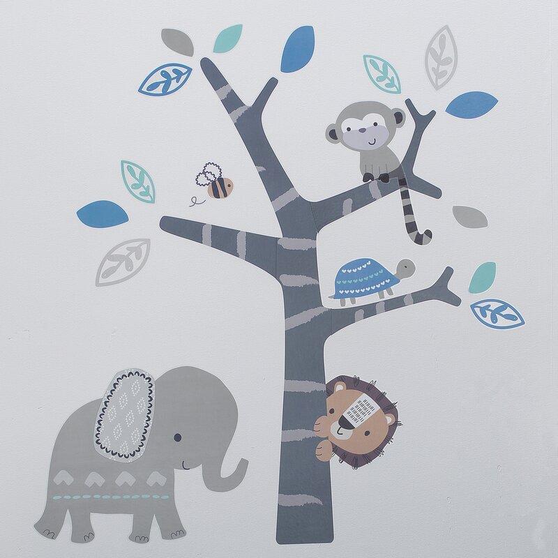 Wall Tattoo SAFARI Africa Zebra Monkey Lion Wall Stickers Decor Nursery Set 4