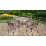 Thelma 5 Piece Metal Dining Set