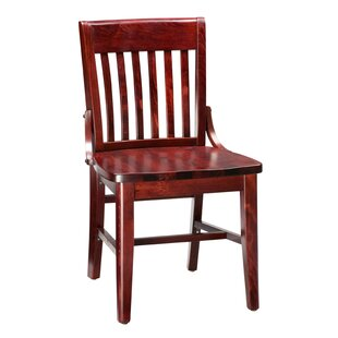 Amoroso Beechwood School House Solid Wood Seat Dining Chair Red Barrel Studio