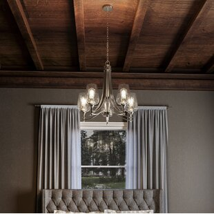 Haskin 5-Light Shaded Chandelier by Highland Dunes