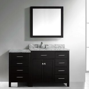 Savitsky 75 Single Bathroom Vanity Set with Mirror by Latitude Run