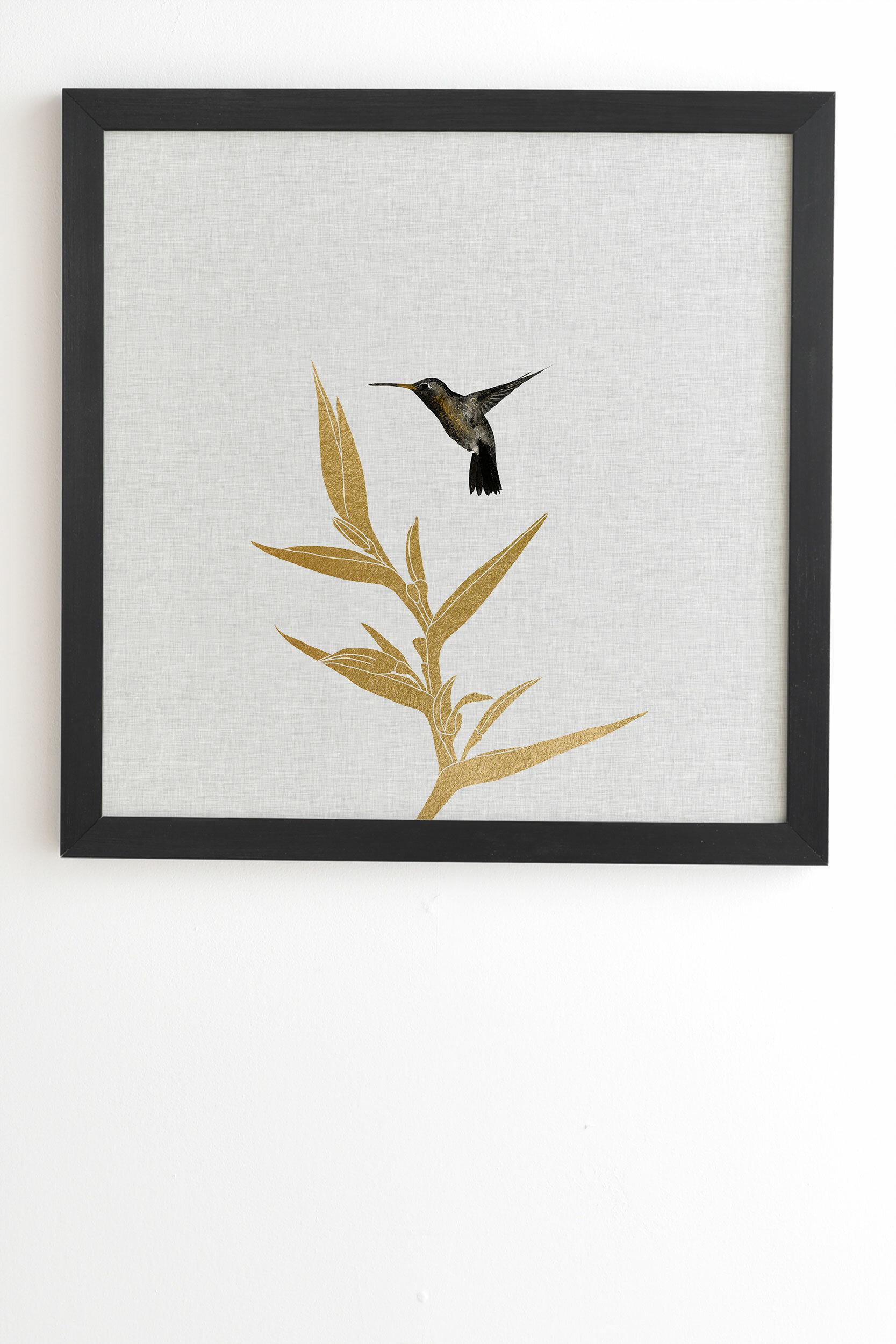 Society6 Hummingbird And Flower Ii Graphic Art Print Reviews Wayfair