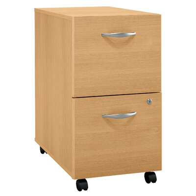 Bush Business Furniture Series C 2 Drawer Vertical File Finish: Danish Oak/Sage