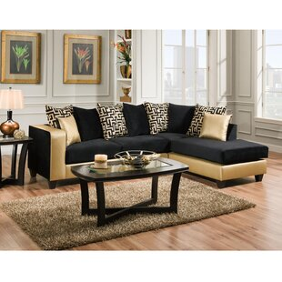 Dilorenzo Modern Solid Wood Sectional by Latitude Run