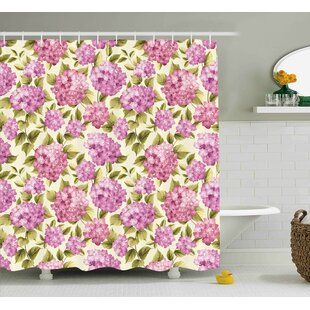 Burnes Elegance Flower with Leaves Single Shower Curtain
