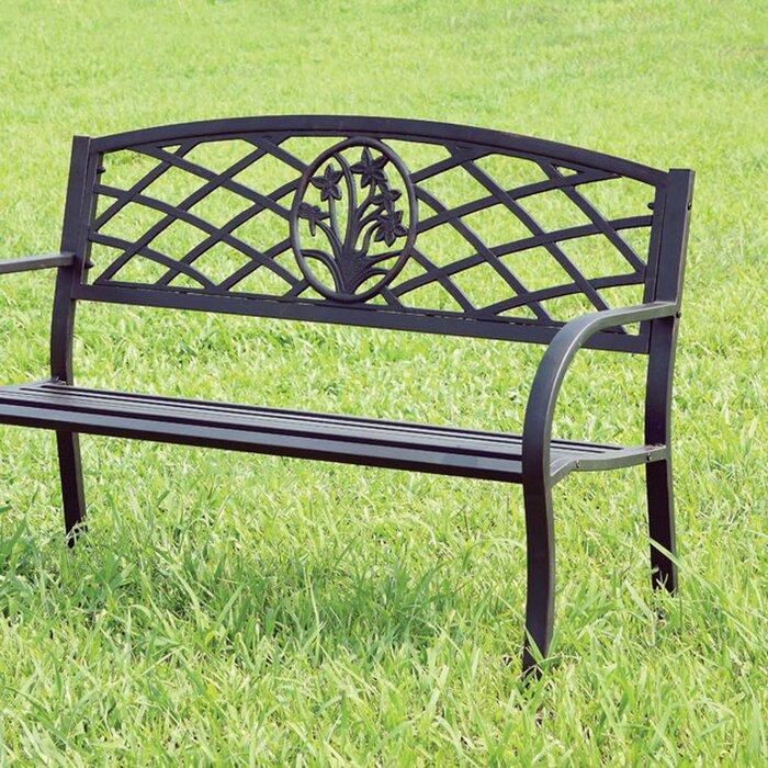 Enjoyable Carlile Stainless Steel Garden Bench Ibusinesslaw Wood Chair Design Ideas Ibusinesslaworg