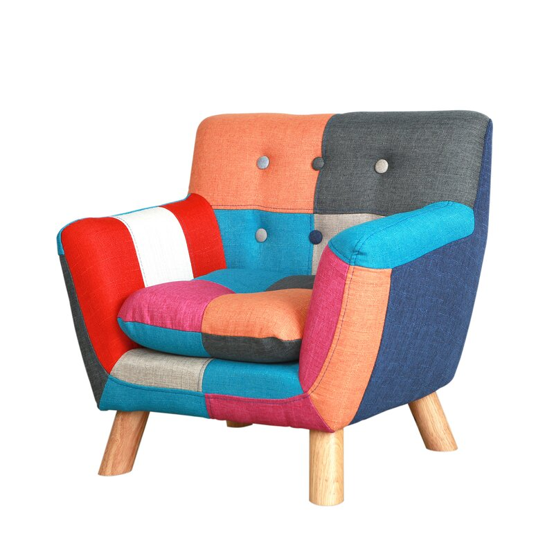 Jacey Kids Patchwork Chair