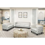Liev Crystal Linen 3 Piece Living Room Set by House of Hampton®