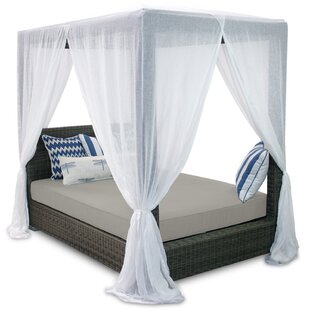 Patio Heaven Palisades Queen Canopy Bed with Cushions