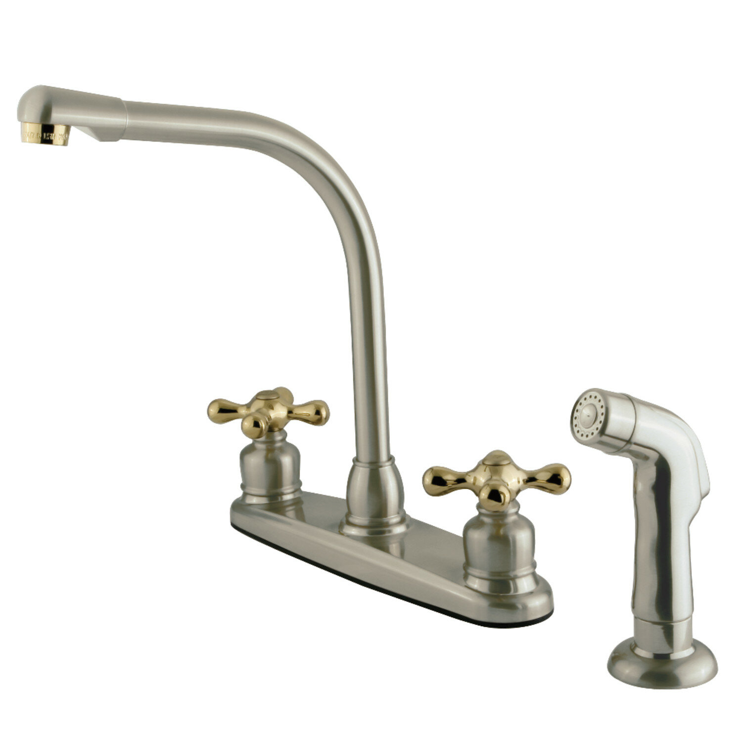 Victorian Centerset Double Handle Kitchen Faucet with Side Spray