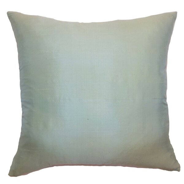 The Pillow Collection Constance Plain Silk Throw Pillow Reviews