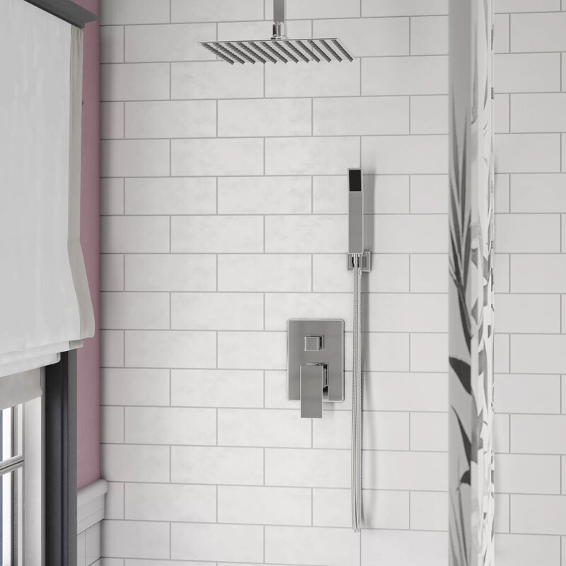 Rebrilliant Cahoon Volume Complete Shower System With Rough In Valve Reviews Wayfair