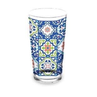 Talavera Tile 591ml Plastic Drinking Glass (Set Of 4) By Tar Hong