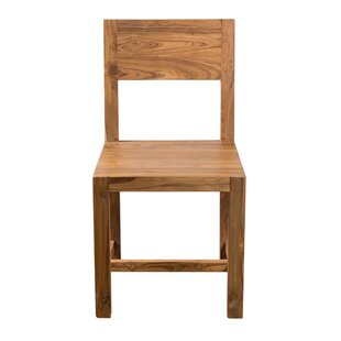 Wren Solid Wood Dining Chair (Set of 2) Millwood Pines