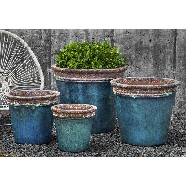 Campania International Inc Baia 4 Piece Glazed Terracotta Pot Planter Set Wayfair