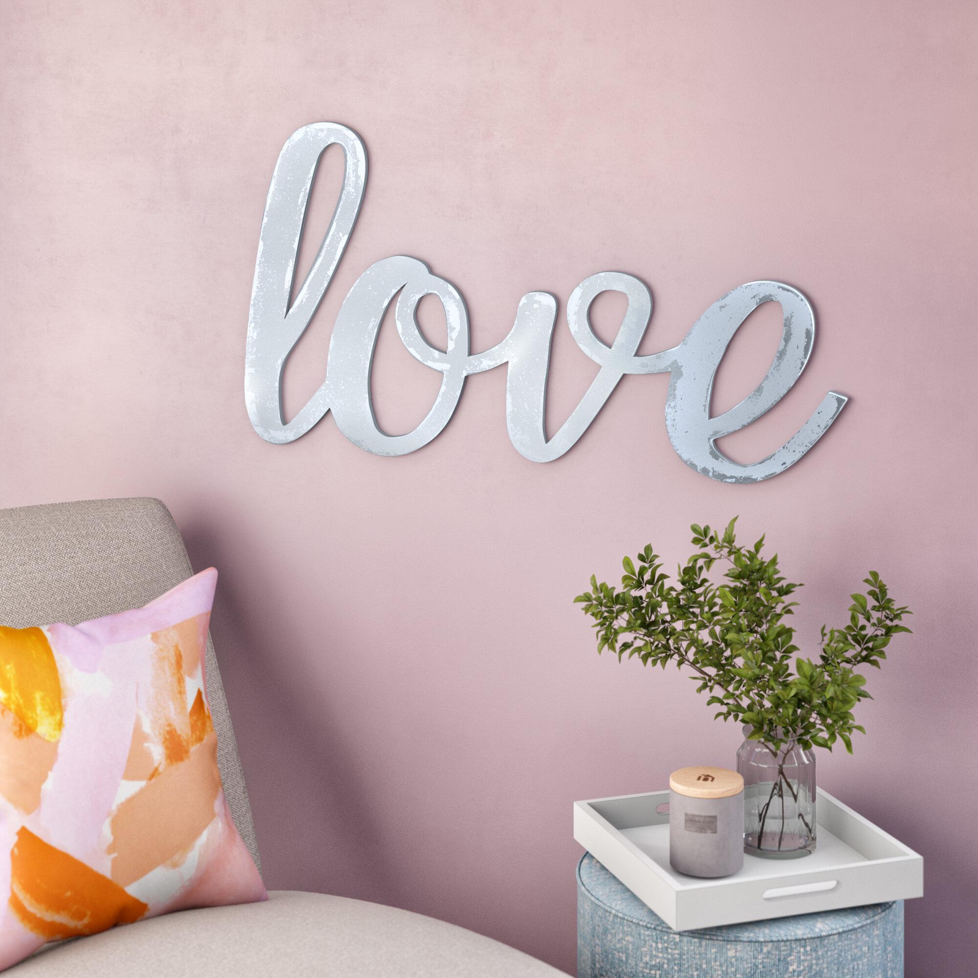 Ivy Bronx Huge Cursive Word Love Wall