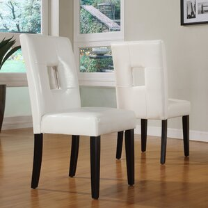 Belvin Keyhole Side Chair (Set of 2) by Mercury Row