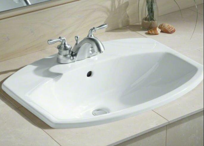 drop in bathroom sinks. Cimarron  Ceramic Rectangular Drop In Bathroom Sink with Overflow Kohler