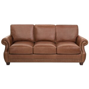 Arecibo Leather Sofa by Charlton Home