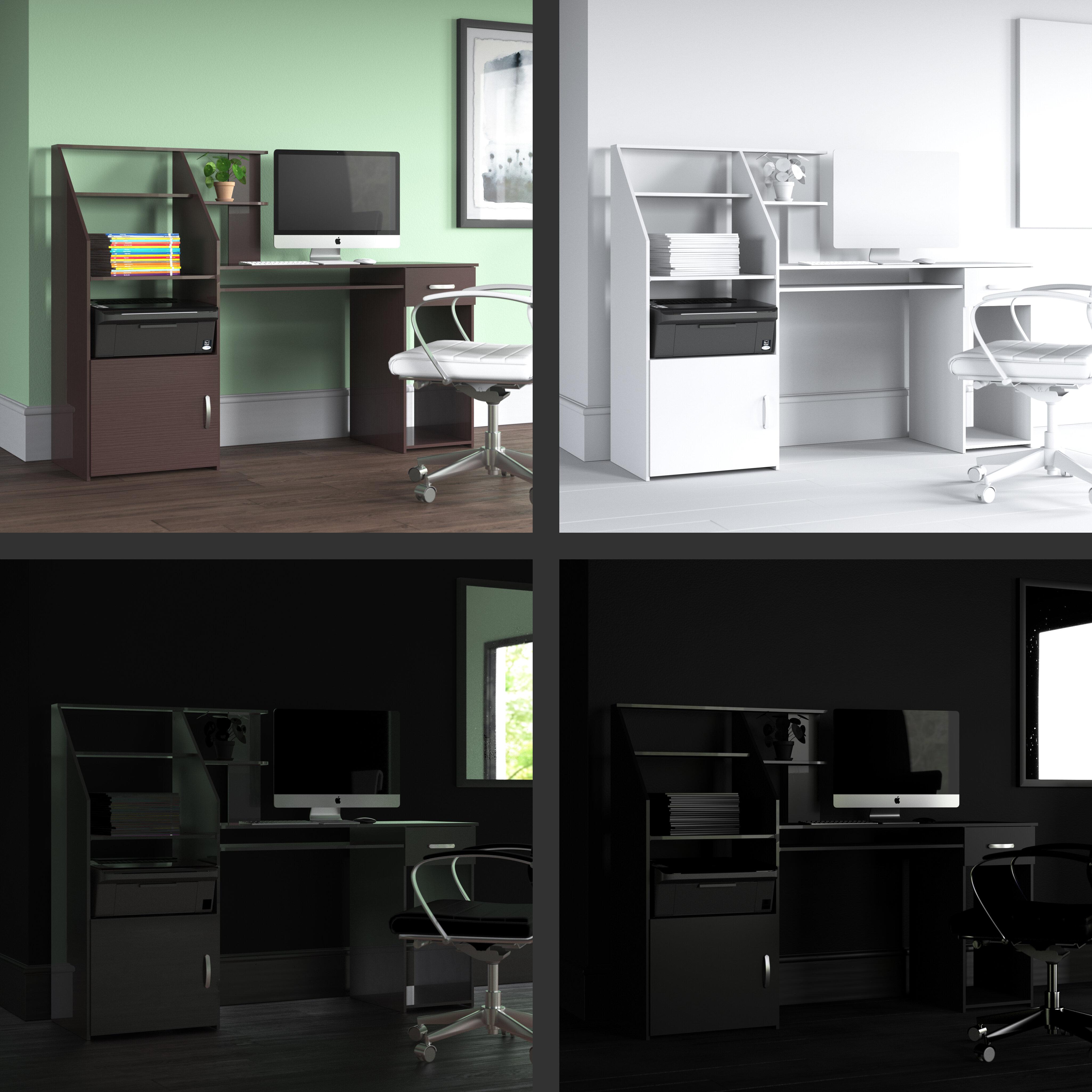 Latitude Run® Anas Computer Desk & Reviews | Wayfair
