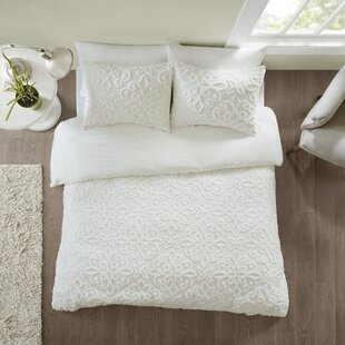 Keeney Tufted Cotton Chenille Duvet Cover Set