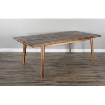 Union Rustic Britton Extension Solid Wood Dining Table Wayfair