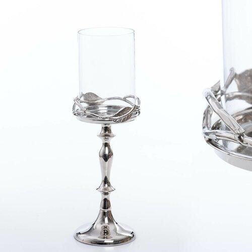 Leuchter Rustic Teelichthalter Windlicht Glas champagner//blau Ø 12 cm