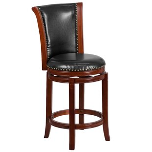 Asceanna 26 Swivel Bar Stool Red Barrel Studio