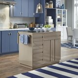 Emblyn Kitchen Island with Quartz Top by Latitude Run