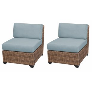Medina Patio Chair With Cushions (Set Of 2) by Rosecliff Heights 2019 Coupon