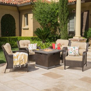 Hetrick 5 Piece Fire Pit Table Set