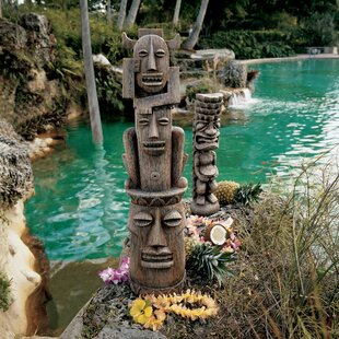 Design Toscano Tiki Gods Three Pleasures and Luau Statue