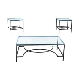 Ivy Bronx Maxeys 3 Piece Occasional Coffee Table Set