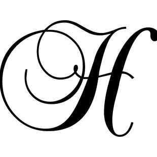 Letter H Wall Decal
