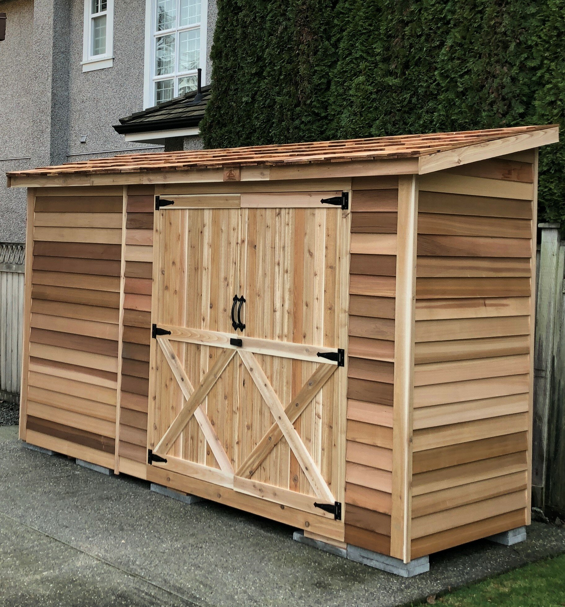 Bon Bayside 13 Ft. W X 5 Ft. D Solid Wood Lean To Storage Shed