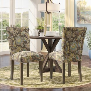 Andover Mills Champaign Floral Upholstered Dining Chair (Set of 2)
