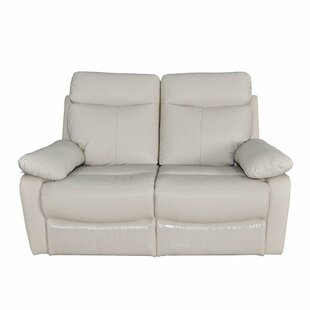 Morency Genuine Leather Reclining Loveseat