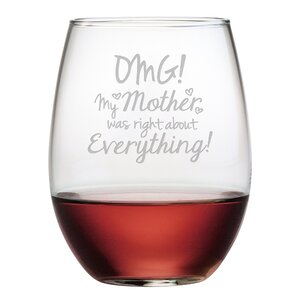OMG My Mother Stemless Wine Glass (Set of 4)